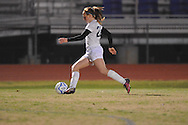 Oxford High's Gabrielle Joyce (22) vs. Lafayette High in girls soccer action on Tuesday, December 10, 2013. The match ended in a 5-5 tie.