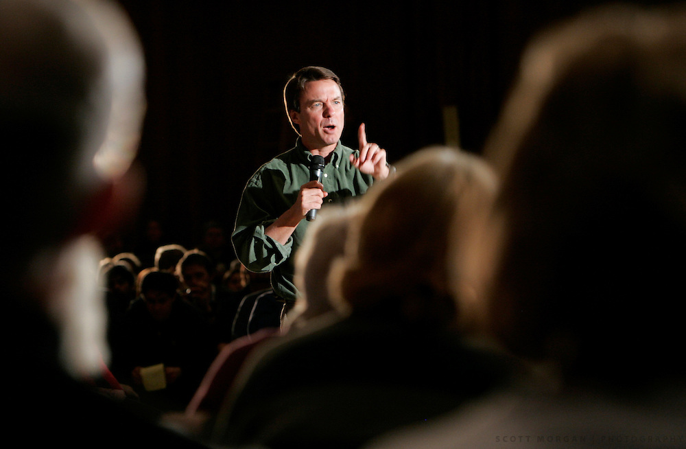 IOWA CITY, IA - JANUARY 20: Presidential hopeful John Edwards, D-N.C. speaks during a town hall style meeting January 30, 2007, at the Iowa Memorial Union at the University of Iowa in Iowa City, Iowa. The former vice-presidential candidate spoke for the need to begin withdrawing troops from Iraq and took questions from the audience on topics ranging from his stance on the death penalty to the Isreal-Palistine conflict. (Photo by Scott Morgan/Getty Images)