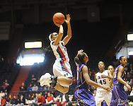 "Ole Miss' Shantell Black vs. LSU on Sunday, January 17, 2010 at the C.M. ""Tad"" Smith Coliseum in Oxford, Miss. Ole Miss won 80-71."