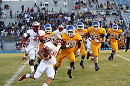 Lafayette High's Devon Thomas (18) runs vs. Tupelo in Tupelo, Miss. on Friday, August 23, 2013. Tupelo won.