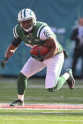 Dec 23, 2012; East Rutherford, NJ, USA; New York Jets running back Bilal Powell (29) runs with the ball during the first half of their game against the San Diego Chargers at MetLIfe Stadium.