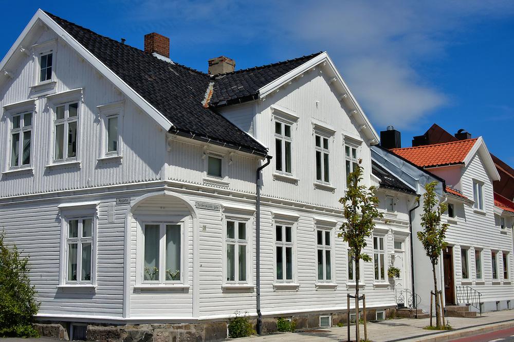White wooden houses in posebyen in kristiansand norway encircle photos - Norwegian wood houses ...