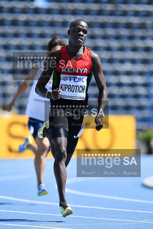 BYDGOSZCZ, POLAND - JULY 20: Geoffrey Kiprotich of Kenya in the heats of mens 400m during the morning session on day 2 of the IAAF World Junior Championships at Zawisza Stadium on July 20, 2016 in Bydgoszcz, Poland. (Photo by Roger Sedres/Gallo Images)