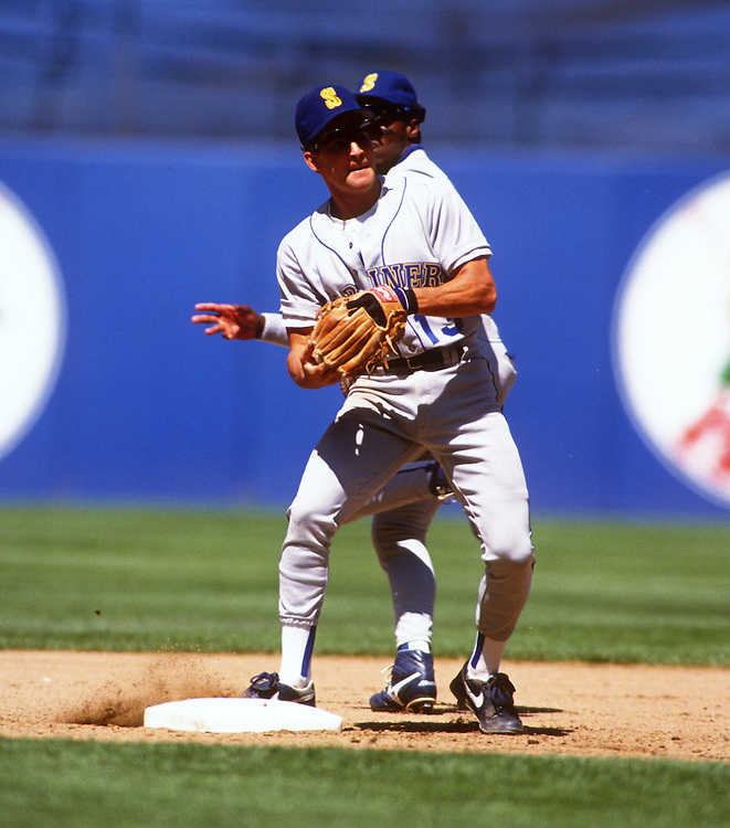 CHICAGO - 1990:  Omar Vizquel of the Seattle Mariners fields against the Cleveland Indians during a 1990 MLB game at Municipal Stadium in Cleveland, Ohio.  Vizquel played for the Mariners from 1989-1993.  (Photo by Ron Vesely)
