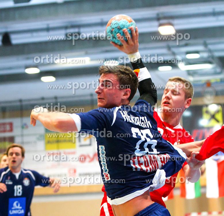 31.10.2014, Halle Hollgasse, Wien, AUT, Team 94 Invitational, Österreich vs Polen, im Bild Lukas Herburger (AUT)// during the Team 94 Invitational Match between Austria and Poland at the Hollgasse, Vienna, Austria on 2014/10/31, EXPA Pictures © 2014, PhotoCredit: EXPA/ Sebastian Pucher