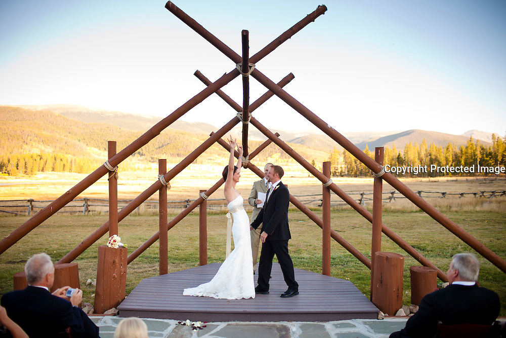 SHOT 9/30/10 7:05:21 PM - Marc Piscotty and Margaret Ebeling wedding week at Devil's Thumb Ranch in Tabernash, Co..(Photo by Trevor Brown / © 2010)
