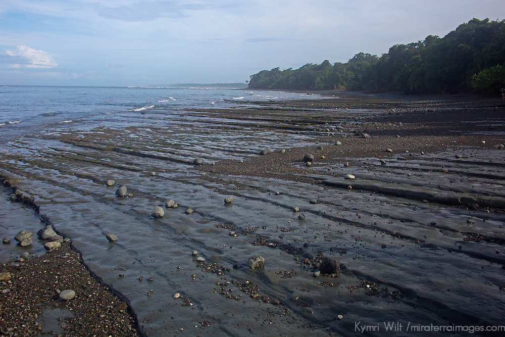 Central America, Costa Rica, Drake Bay. Drake Bay beach and tide.