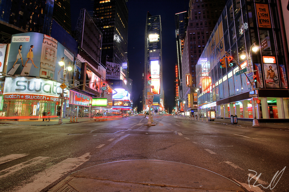 0mb times square new york city nyc manhattan night empty deserted ...
