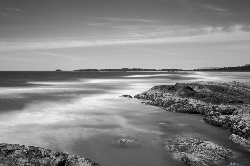 Long exposure shots of Long Beach, an aptly-named beach along Vancouver Island's Pacific Rim National Park, just south of Tofino. We visited during a rare sunny spell; the coastline is renowned for rough, stormy conditions.
