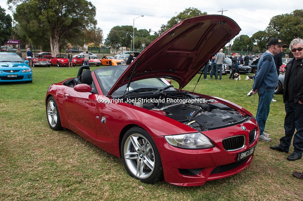 BMW E85 Z4M Roadster. Susie Harris Memorial Car Show. St Leonards College, Brighton, Victoria. 23rd March 2014. (C) Joel Strickland Photographics