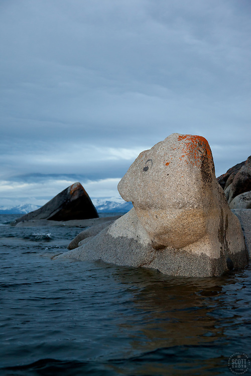 """Boulders at Lake Tahoe 32"" - These boulders were photographed in the early morning near Speedboat Beach, Lake Tahoe."