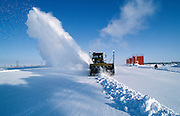 Alaska. Prudhoe Bay. Snow removal in the far north arctic.