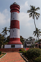Alleppey Lighthouse serves more as a museum than an actual working lighthouse, near Alleppey Beach.