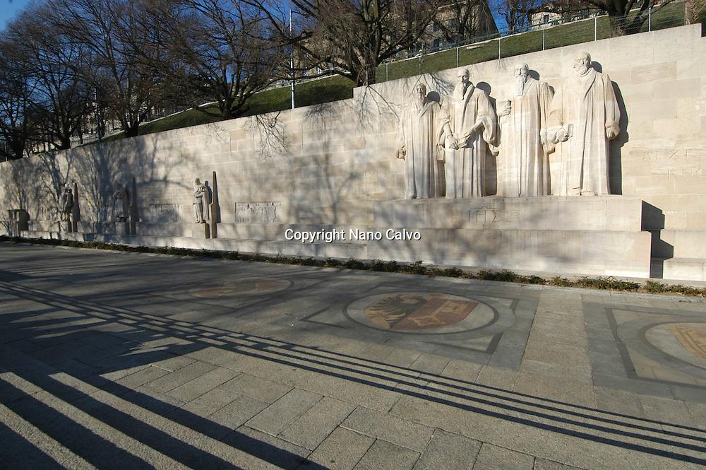 Mur de la Reformation or Reformation Wall in Parc des Bastions, Geneva, Switzerland
