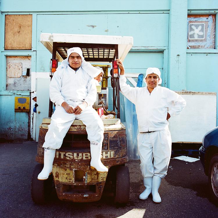 WHITTIER, ALASKA - 2008: Cannery Workers.