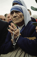 Mother Theresa going back to Albania where she is born ALB611