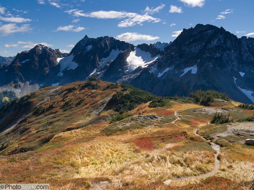 Stehekin Valley is seen from Sahale Arm, in North Cascades National Park, Washington, USA.