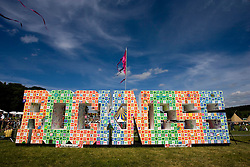 Rock Ness sign. Rockness, Sunday 8th June 2008..Pic © Michael Schofield. All Rights Reserved.