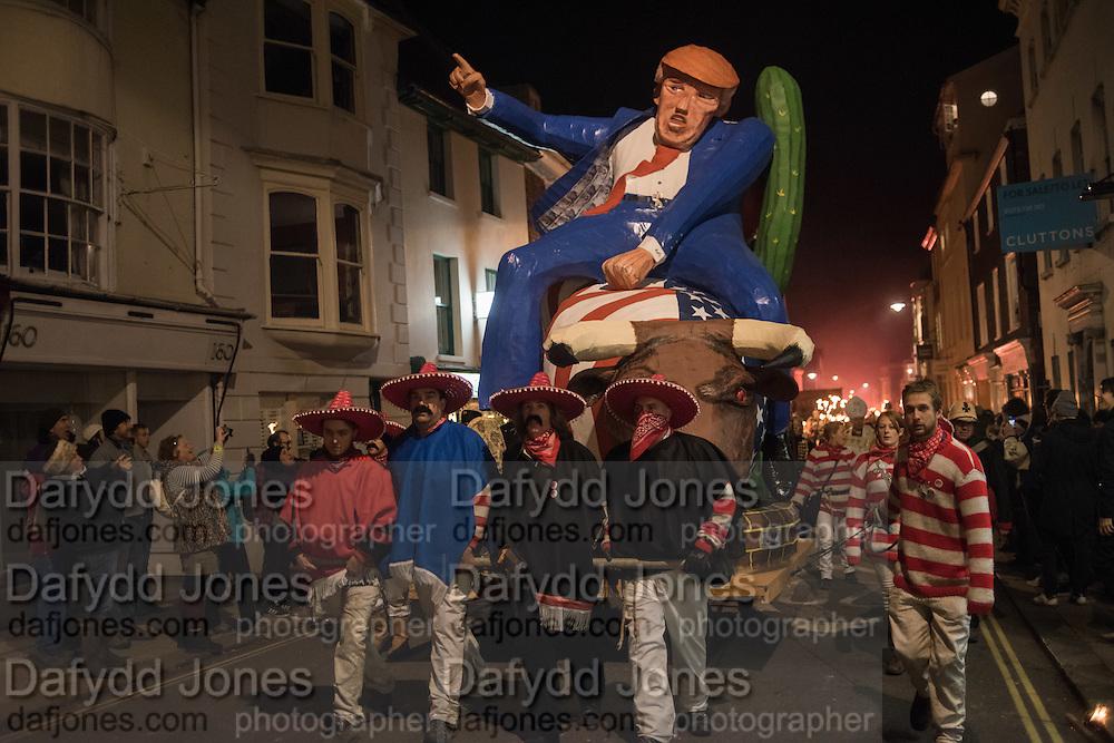 DONALD TRUMP EFFIGY, Lewes Bonfire Night Celebrations , November 5th 2016