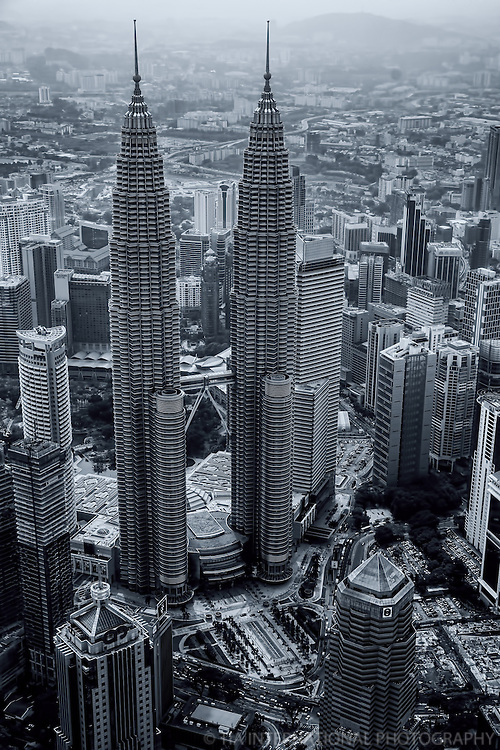 Petronas Almighty (monochrome)