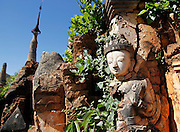The pagoda ruins of Indein. Inle Lake, Myanmar