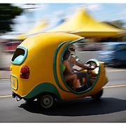 Coco cab, Havana, Cuba.