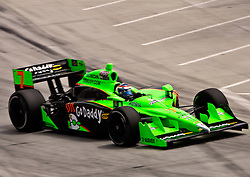 LONG BEACH, CA - APR 17: IndyCar Series driver Danica Patrick drives car #7 of Andretti Autosport at turn 1. Photo by Eduardo E. Silva
