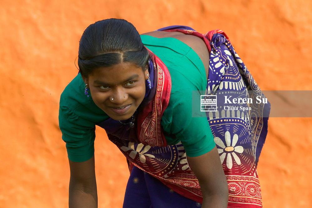 Portrait of an Indian girl, Orissa, India