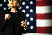 Hillary Clinton speaks during her Organizing for Change event at the Chicken Inn during her campaign for the 2008 Democratic presidential nomination, Creston, Iowa, November 20, 2007.