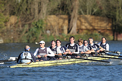 2012.02.25 Reading University Head 2012. The River Thames. Division 2. Upper Thames Rowing Club MasD 8+