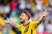 BREDA - NAC - Jong Ajax , Voetbal , Seizoen 2015/2016 , Jupiler league , Rat Verlegh Stadion , 21-08-2015 , NAC Breda speler Kevin Brands scoort de 2-0