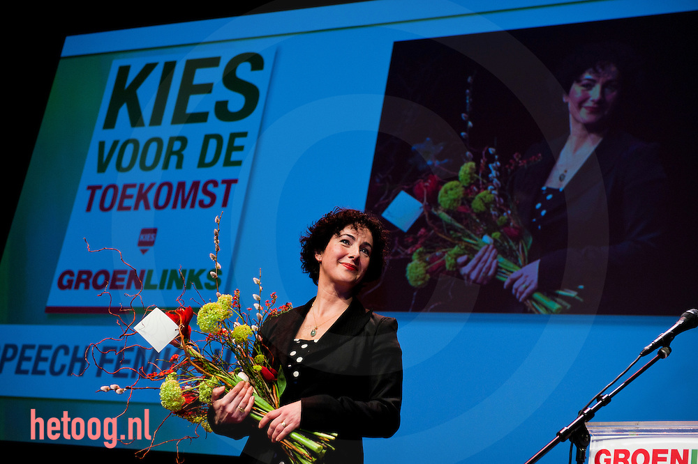 Nederland, utrecht, 05feb2011 femke Halsema heeft op het partij congres afscheid genomen van de landelijke politiek .
