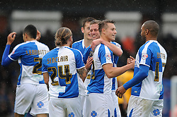 Billy Bodin of Bristol Rovers celebrates with his team mates after scoring - Mandatory byline: Dougie Allward/JMP - 07966 386802 - 24/10/2015 - FOOTBALL - Memorial Stadium - Bristol, England - Bristol Rovers v Newport County AFC - Sky Bet League Two
