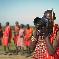 Maasai photographer, Kenya