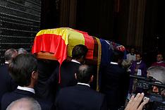 NOV 21 2014 Duchess of Alba funeral at Sevillas Cathedral