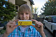 Taylor Wilson outside his home in Reno, Nevada. Taylor Wilson is the youngest individual on Earth to have achieved a nuclear fusion reaction..