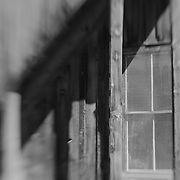 Four Pane Screened Window - Bodie, CA - Lensbaby - Black & White