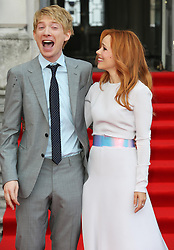 Domhnall Gleeson and Rachel McAdams arriving for the About Time premiere in London,Thursday, 8th August 2013<br /> Picture by Stephen Lock / i-Images