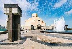 Exterior view of Museum of Islamic Art in Doha Qatar; architect IM Pei