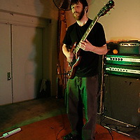 Mick Barr aka Ocrilim performing at Death by Audio on May 22, 2008.