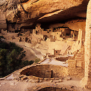 Cliff Palace, one of the largest ancient Native America structures ever discovered, in Mesa Verde National Park, CO.