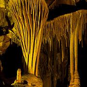 Fantastic natural formations deep within Lehman Caves, Great Basin National Park, Snake Range, Nevada.