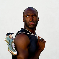 6/12/12 6:25:16 PM -- Bradenton, FL. -- Olympian LaShawn Merritt, who competes in the 400 meters, poses for a portrait at the IMG Performance Institute in Bradenton, Florida. ...Photo by Chip J Litherland, Freelance.