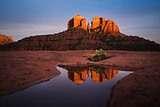 Sunset from the reflecting pools in Sedona.