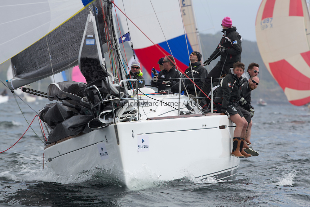 Day two of the Silvers Marine Scottish Series 2015, the largest sailing event in Scotland organised by the  Clyde Cruising Club<br /> Racing on Loch Fyne from 22rd-24th May 2015<br /> <br /> IRL1668, Animal, D&amp;K Aitken, CCC/RNCYC, First 36.7<br /> <br /> Credit : Marc Turner / CCC<br /> For further information contact<br /> Iain Hurrel<br /> Mobile : 07766 116451<br /> Email : info@marine.blast.com<br /> <br /> For a full list of Silvers Marine Scottish Series sponsors visit http://www.clyde.org/scottish-series/sponsors/