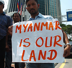 MAR 25 2013 Myanmar Muslims Protest in Malaysia