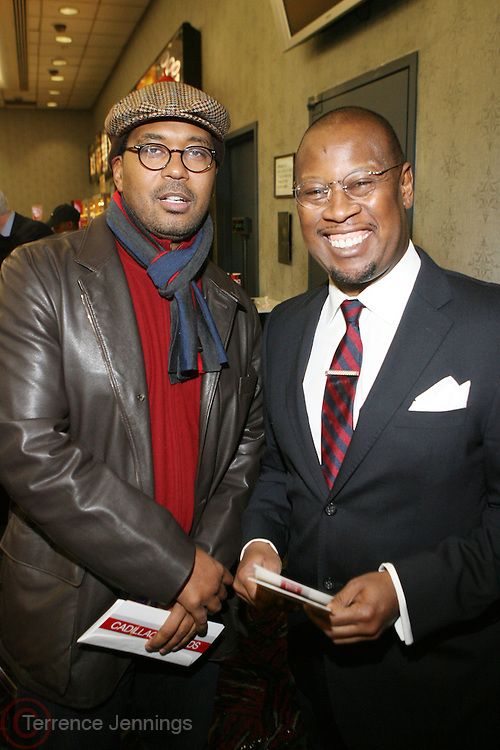 "l to r: Jayson Jackdon and Ande Harrell at the ' Cadillac Records' premiere at held at AMC Broadway 19th Street on Decemeber 1, 2008 in NYC..In this tale of sex,, violence, race, and rock and roll in the 1950's Chicago, 'Cadillac Records"" follows the exciting but turbulent lives of some America's musical legends including Muddy Waters, Leonard Chess, Little Walter, Howlin' Wolf, Chuck Berry and Etta James."