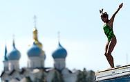 JIMENEZ TREJO Adriana MEX<br /> FINA High Diving World Cup 2014<br /> Kazan Tatartsan Russsia RUS Aug. 8 to 10 2014<br /> Kazanka River  Day00 - Aug.7 <br /> Photo G. Scala/Deepbluemedia