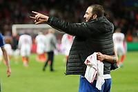can - 02.05.2017 - Monaco - Champions League Semifinale -  Monaco-Juventus nella  foto: Gonzalo Higuain esulta a fine partita
