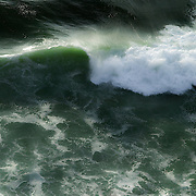 Overhead view of curling wave, Oregon Coast